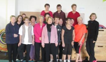 Les participantes au cours de fitness du mardi